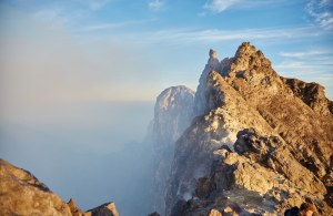 The Peak of Mt, Merapi, Java