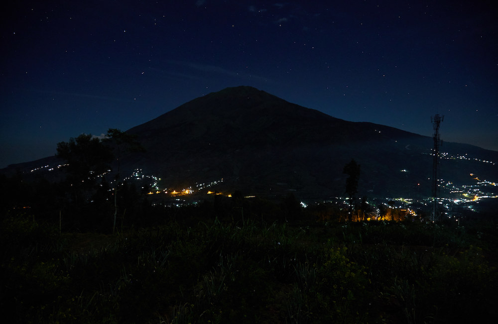Climbing Mt. Merapi at Night