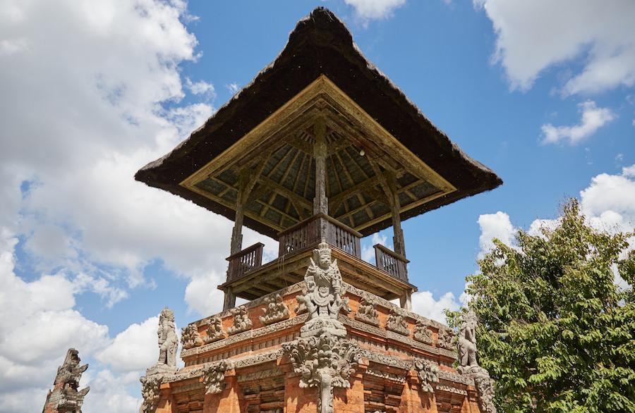 Kulkul shrine Balinese temples