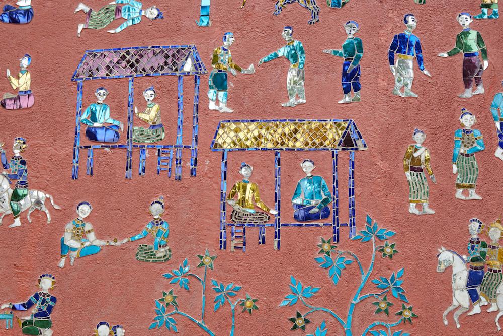 Wat Xiengthong Mosaic