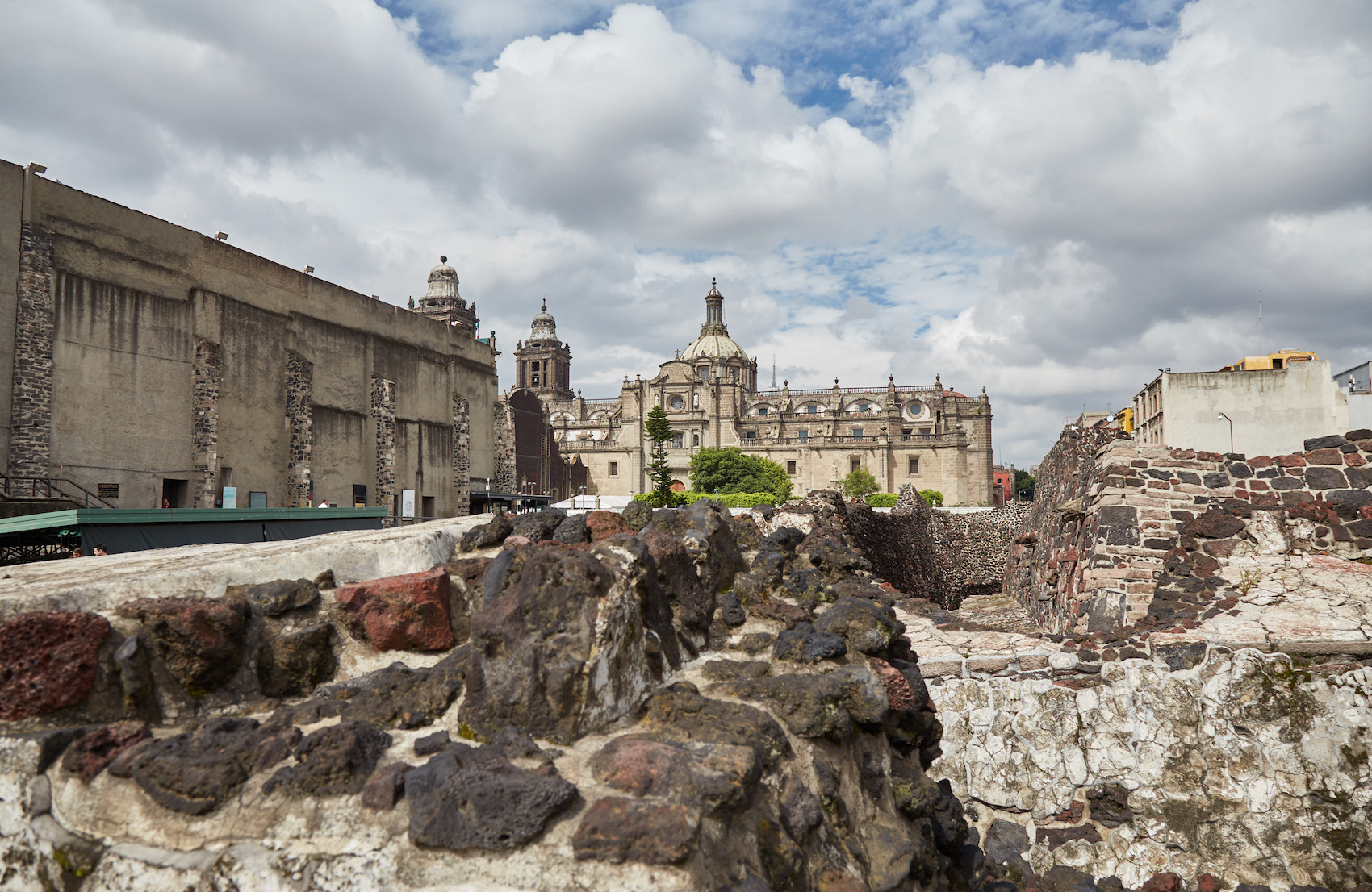 Templo Mayor Ruins and Cathedral