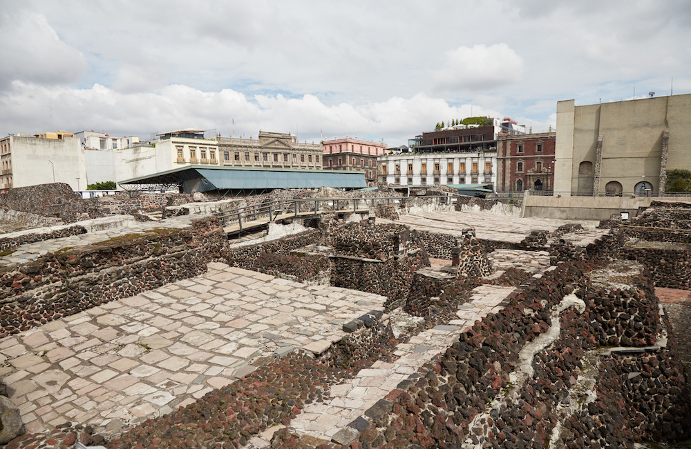 Templo Mayor Ruins Mexico City