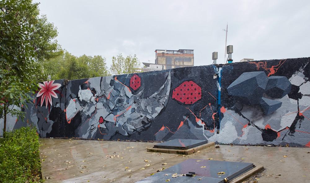 Jardin Pushkin Rhino Mural