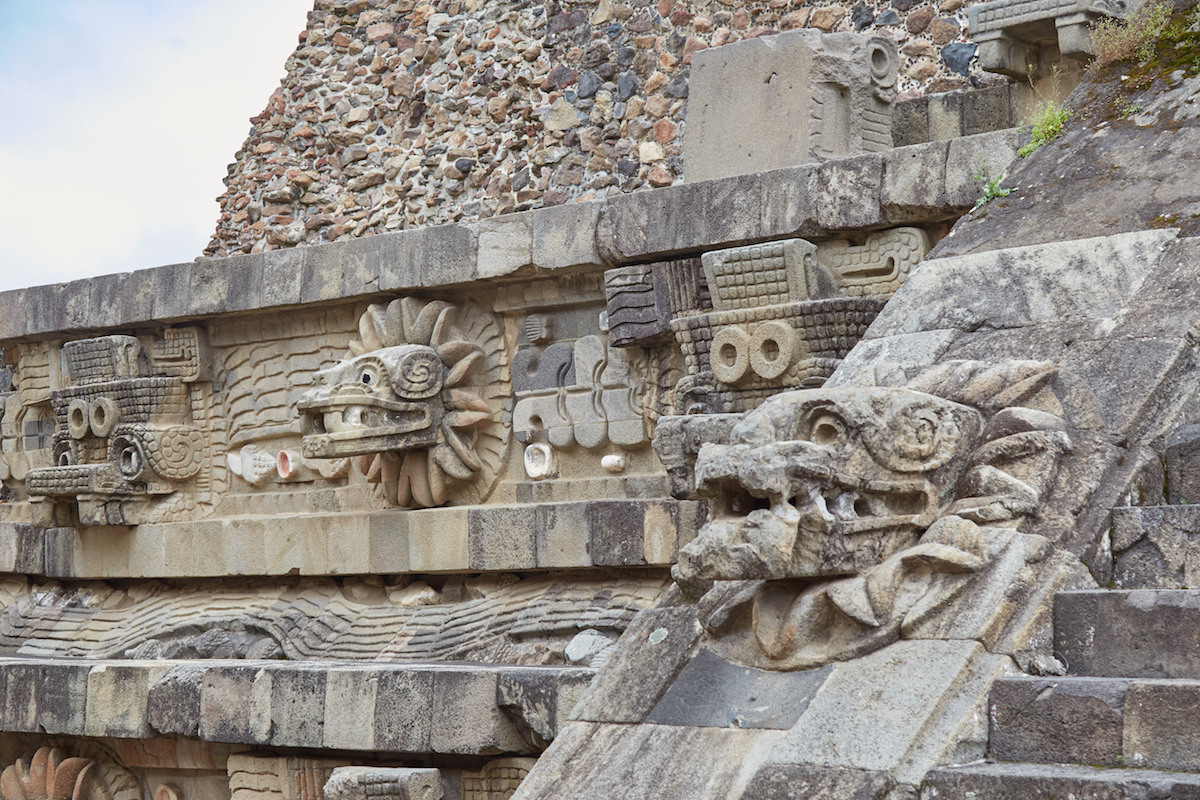 Quetzalcoatl Pyramid Carvings