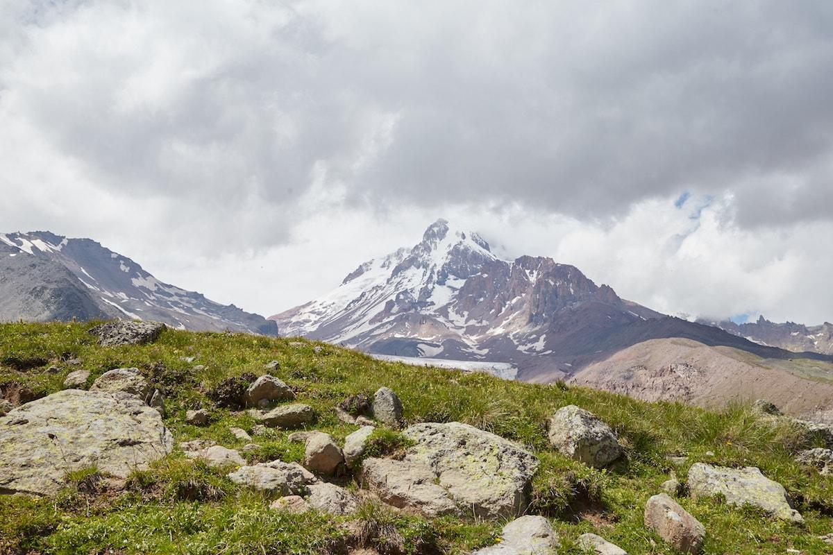 Hiking to Gergeti Glacier Kazbegi
