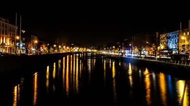 On O'Connell Street Bridge looking East