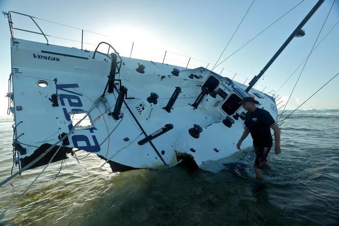 Dec 21  Volvo Team Vestas Wind has recovered their VOR 65  Sailing With Devious 2014