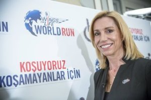 Wings for Life World Run CEO Anita Gerhardter poses for a portrait during the press conference in Istanbul, Turkey on January 14th 2014 // Nuri Yilmazer/Red Bull Content Pool // P-20140115-00301 // Usage for editorial use only // Please go to www.redbullcontentpool.com for further information. //