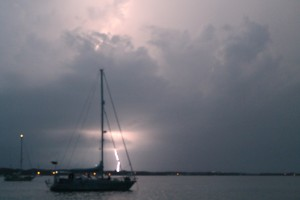 Lightning Strikes Boat