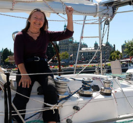 Jeanne Socrates is set to sail around the world nonstop again, this time at age 74. Once again, she'll start and finish in Victoria.