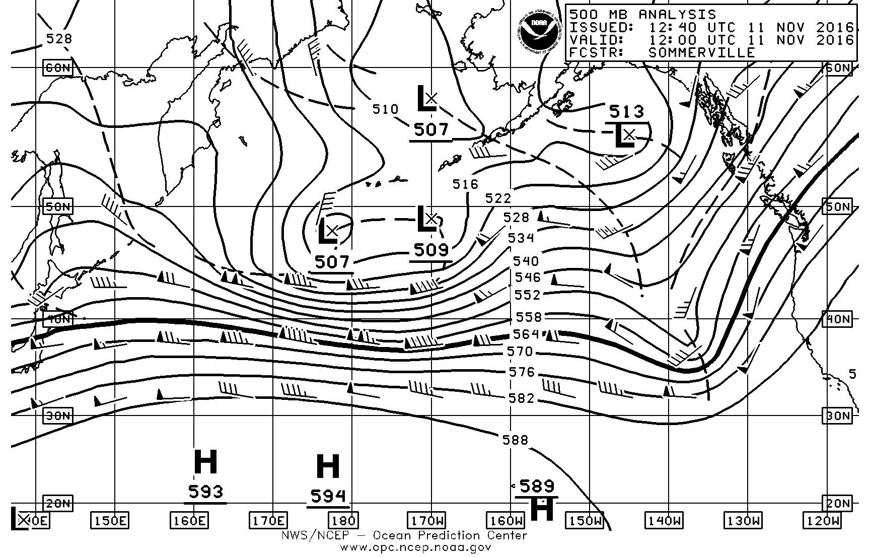 Weather page 7 sailish 500 mb surface chart november 11 nvjuhfo Choice Image