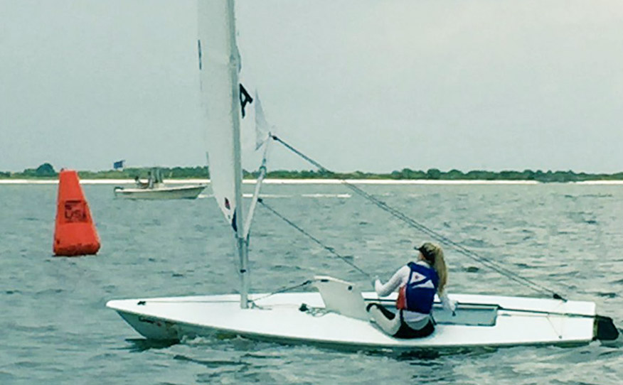 Abbie Carlson Wins Close Leiter CupJunior Womens Singlehanded Champs