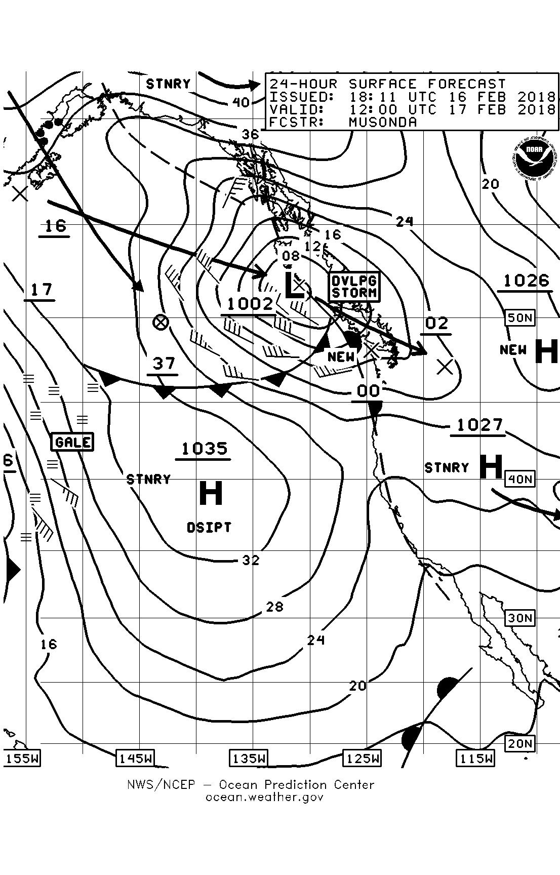 Puget sound marine weather sailish february 17 surface forecast chart nvjuhfo Image collections