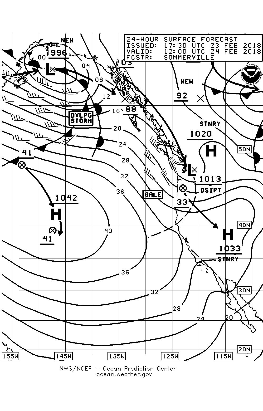 racing page 10 sailish Pole Weather Station Setups february 24 surface forecast