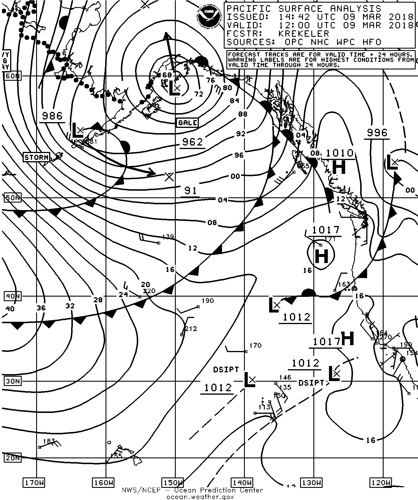 racing page 9 sailish Weather Station Mounting march 9 surface analysis