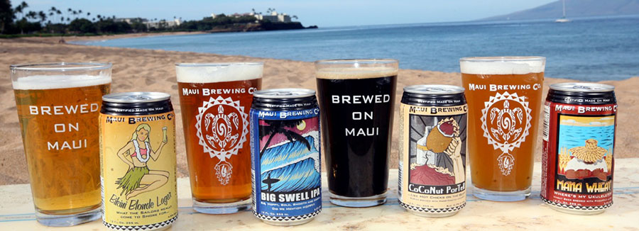 maui brewing company beers on the beach