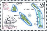 Шлюп Восток - марка Кирибати, 1986
