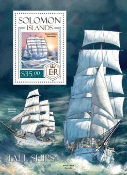 Крузенштерн марка Соломоновы острова