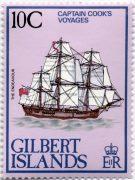 Острова Гилберта марка парусник