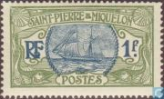 марка Сен-Пьер и Микелон 1909