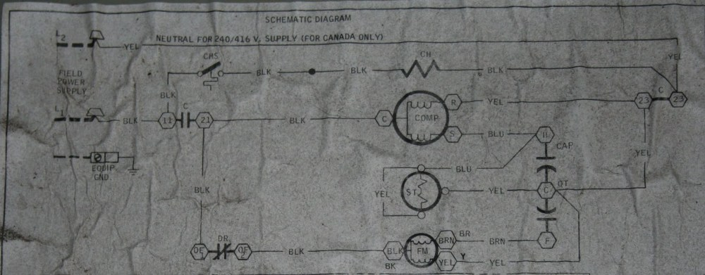 medium resolution of luckily the unit has a basic schematic on the inside of the electrical comparment cover