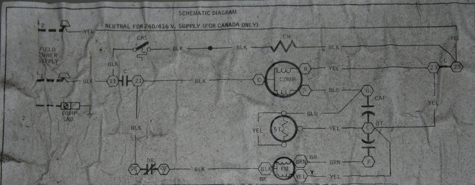 hight resolution of luckily the unit has a basic schematic on the inside of the electrical comparment cover