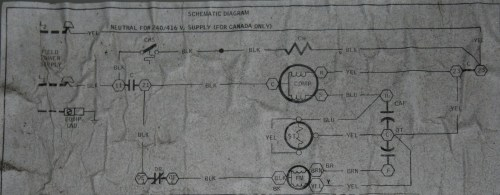 small resolution of luckily the unit has a basic schematic on the inside of the electrical comparment cover
