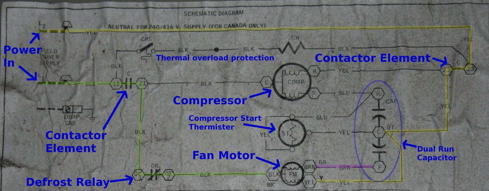 hight resolution of for those of you who don t have the benefit of experience i took the liberty of marking the schematic up a little to clarify please pardon my cartoonish