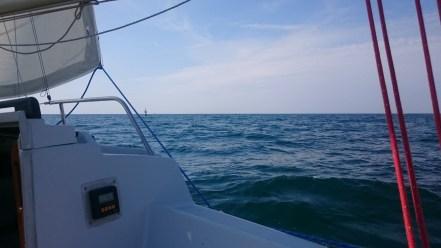 La basse-est Dumet, qu'un voilier prendra pour virer autour...