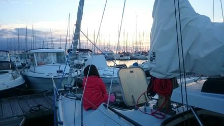 Travail nocturne : les lychens sur babord