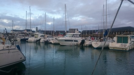 J'ai eu plutôt du beau temps sur le bateau