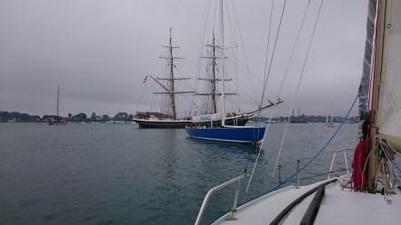 Pascal a navigué sur ce bateau bleu