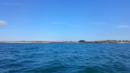 Sur l'eau entre Hoedic et Houat