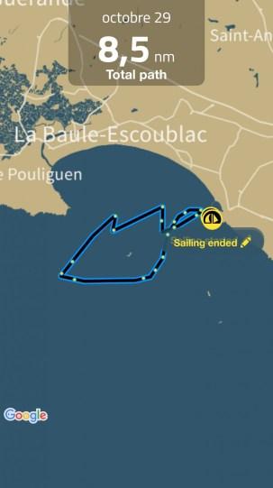 Sailing Log - octobre 29