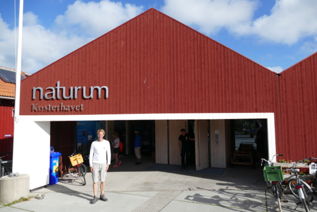 Floris of Sailors for Sustainability at the Kosterhavet Naturum visitor center