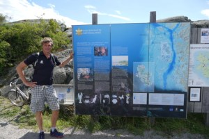 Ivar at Kosterhavet info sign
