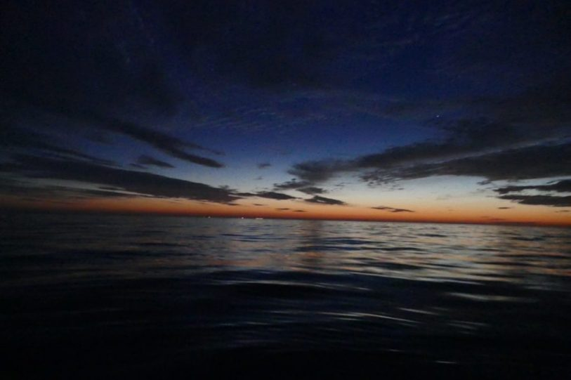 3am on the North Sea without wind, North of Terschelling