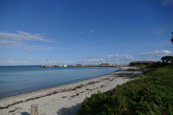 View on Ballen Harbour on Samsø