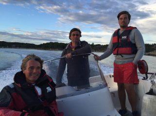 Ivar, Kjell, Alexander on a boat tour