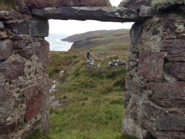 Ruin window view on Islay