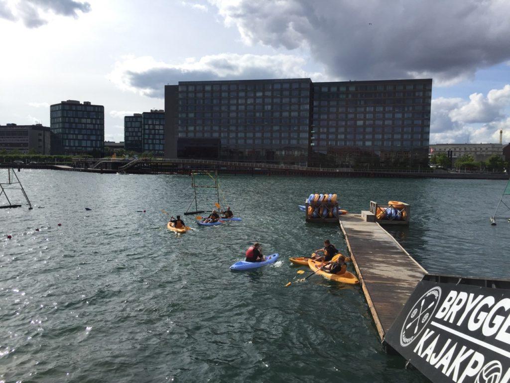 Kajakpolo in Copenhagen's Harbour