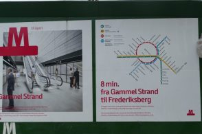Two new metro lines are built in Copenhagen