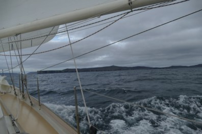 Approaching the Shetlands