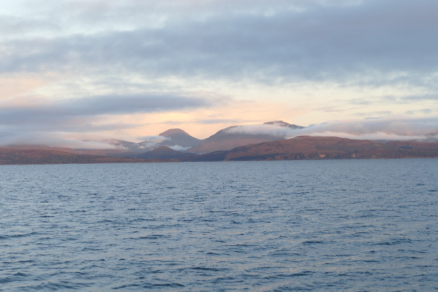 Sunrise in the Jura sound