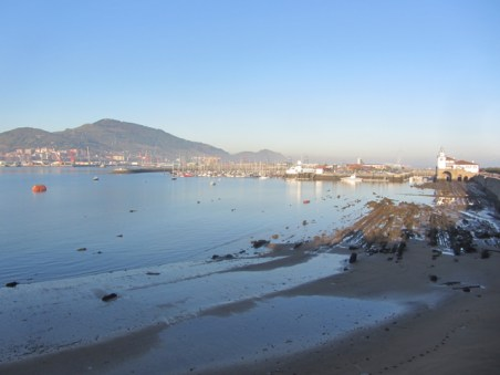 The marina in Getxo, next to Bilbao