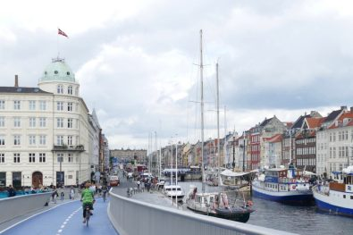 Nyhavn and the new bridge in Copenhagen