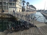 Foldable-bike storage in Lagos marina