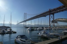 Lisbons golden gate style bridge