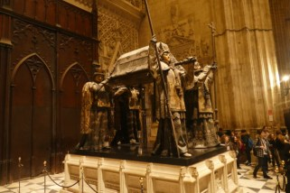 Columbus' grave in Seville's cathedral