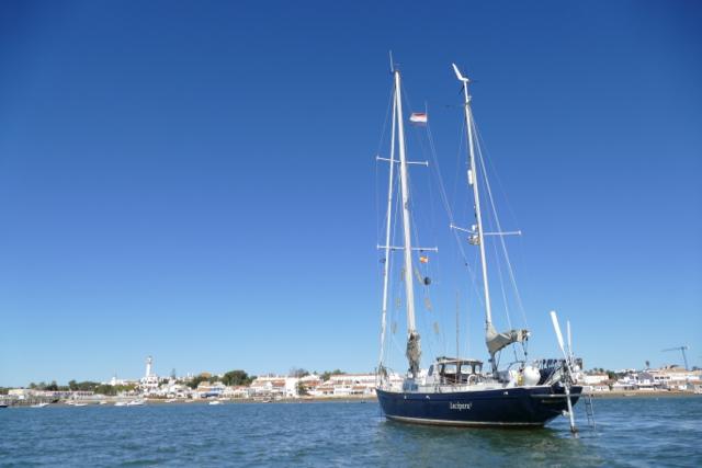 At the El Rompido anchorage